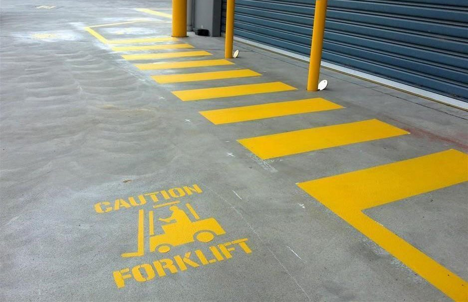Warehouse walkway zonesafe collision warning system