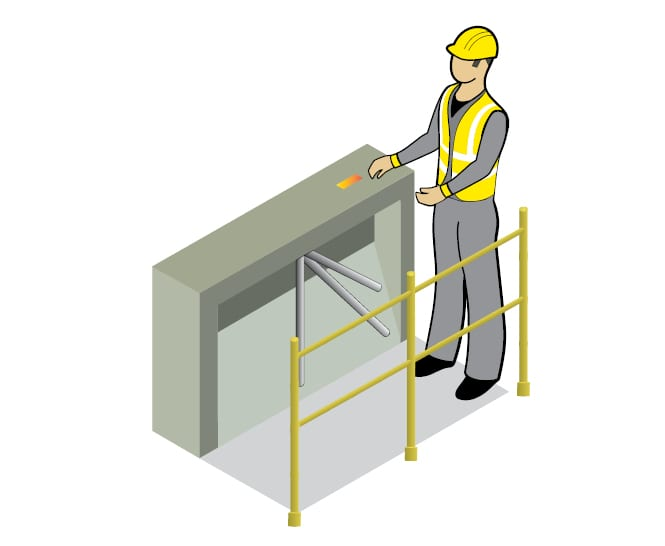 zonesafe turnstile access control illustration