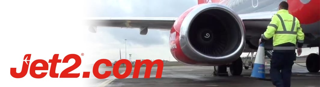 jet2.com logo and plane wing image
