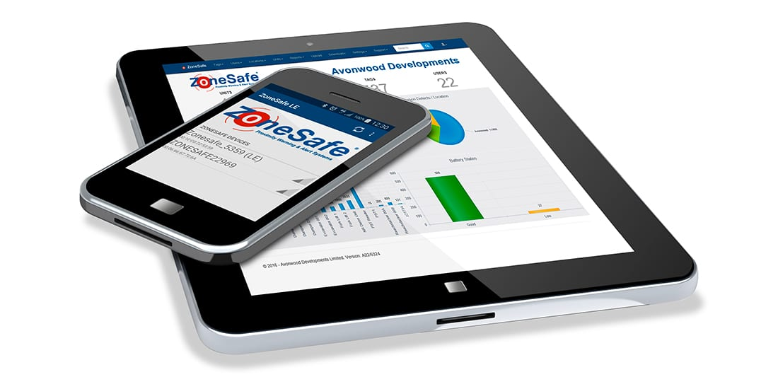 ZoneSafe Insight tablet and phone