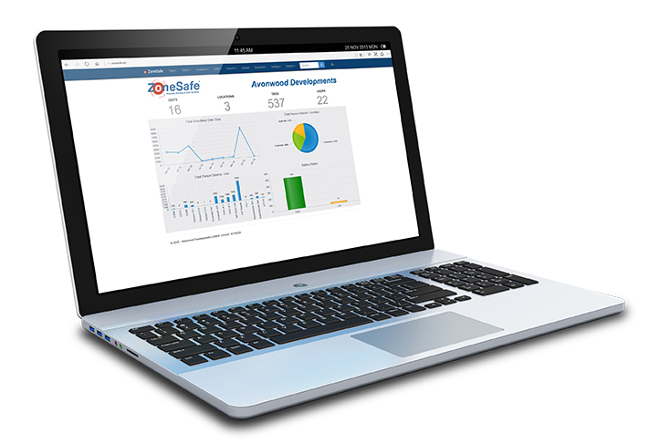 open-laptop-displaying-zonesafe-data-management-homepage-on-screen