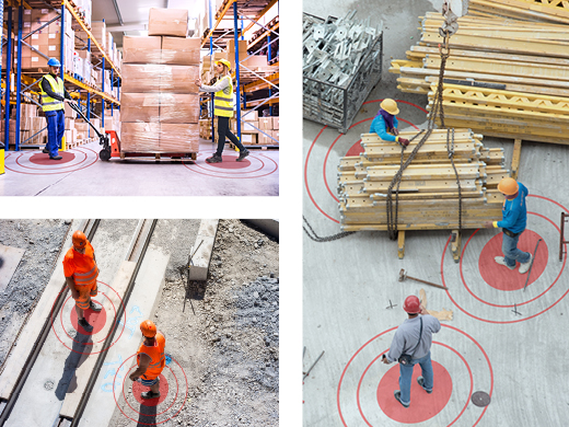 images-of-workers-wearing-zonesafe-p2p-tags-proximity-warning-for-social-distancing