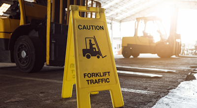 Taking Care Near Forklifts